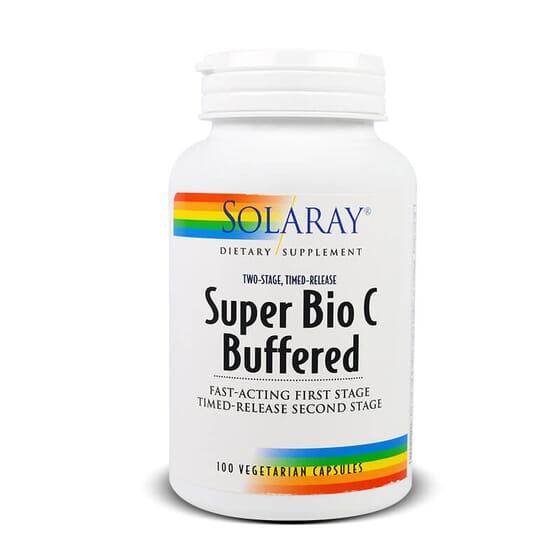 Super Bio C Tamponnée de Solaray libère la vitamine C progressivement.