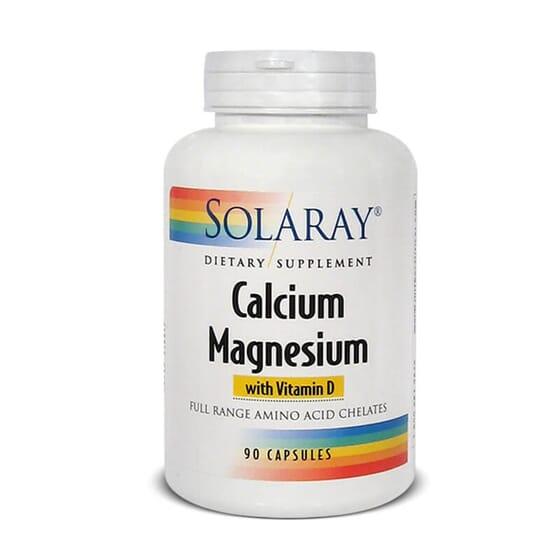 Calcium et Magnésium de Solaray, deux minéraux nécessaires dans votre alimentation.