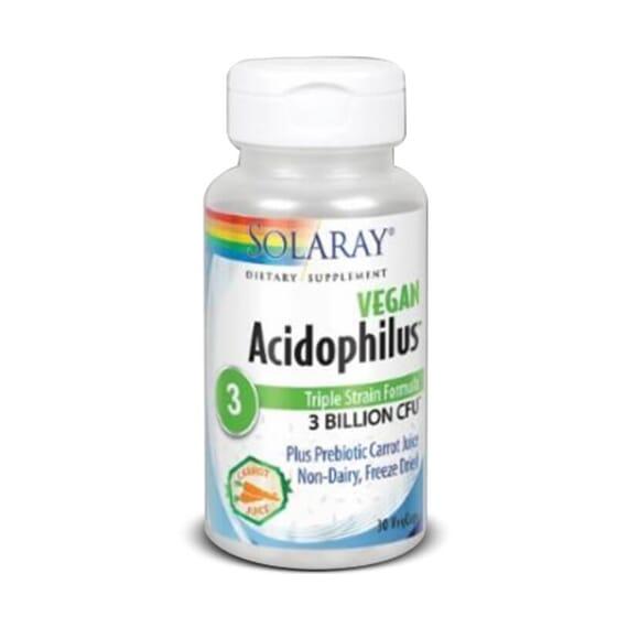 Acidophilus 3 équilibre la flore intestinale.