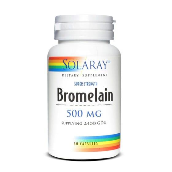 Bromélaïne 500 mg favorise la digestion et l'assimilation de nutriments.