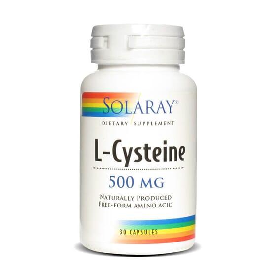 L-Cystéine 500mg de Solaray contient 500mg de L-cystéine sous la forme pratique de capsules végé