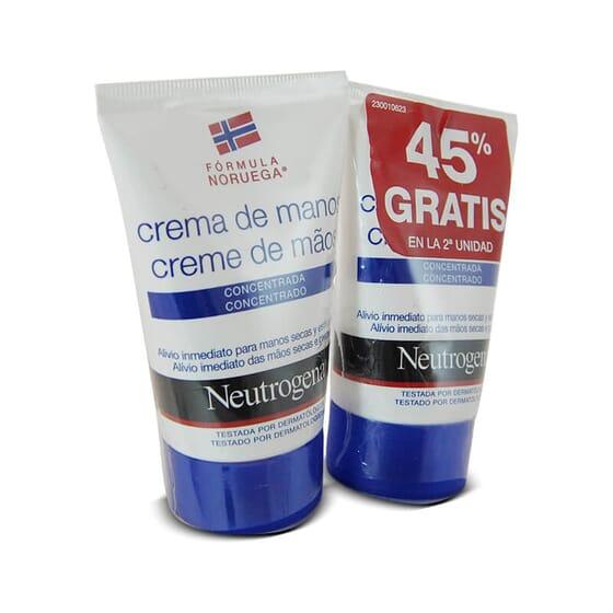 NEUTROGENA CRÈME MAINS HYDRATANTE CONCENTRÉE 45 % OFFERT 2e UNITÉ 2x50 ml