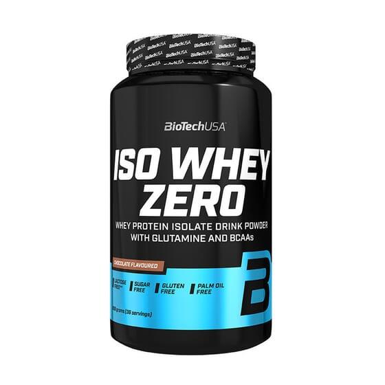 Iso Whey Zero de Biotech USA est une protéine de lactosérum sans gluten ni lactose.