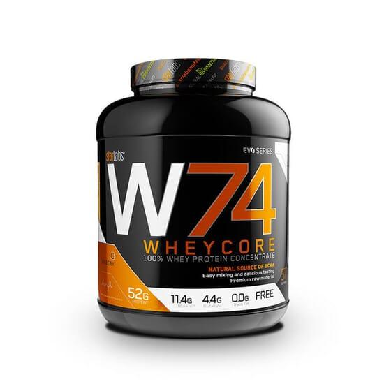 W74 Wheycore es un concentrado de proteína de suero de gran calidad.