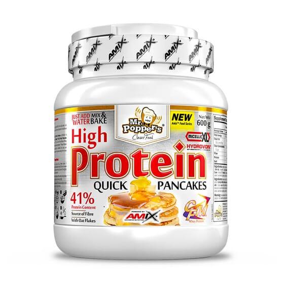 Préparez des pancakes riches en protéines, légers et sains avec High Protein Pancakes.