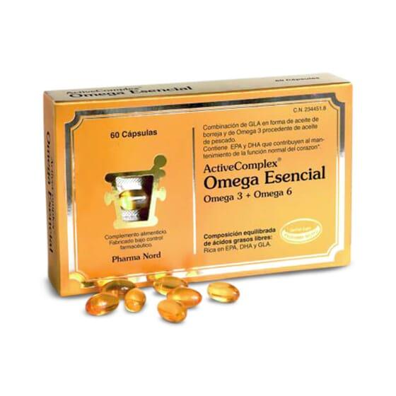 ActiveComplex Ómega Essencial é rico em ácidos gordos ómega 3 e 6.