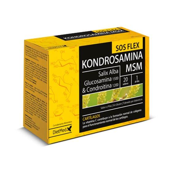 Kondrosamina SOS Flex augmente la flexibilité articulaire.