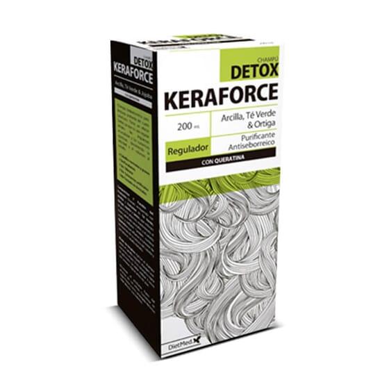 O Keraforce Detox remove as impurezas do cabelo.