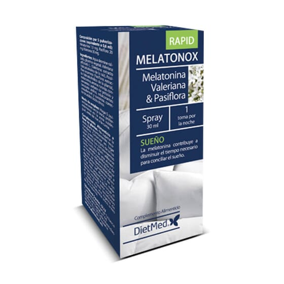 Melatonox Rapid Spray Bucal favorece un sueño reparador.