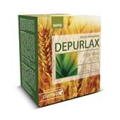 O Depurlax regula o trânsito intestinal.
