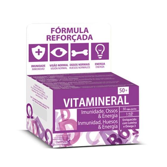 Vitamineral 50+ es un multivitamínico para personas mayores de 50 años.