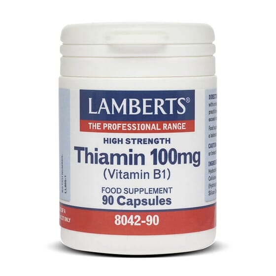 Tiamina 100mg da Lamberts fornece a quantidade necessária de vitamina B1.