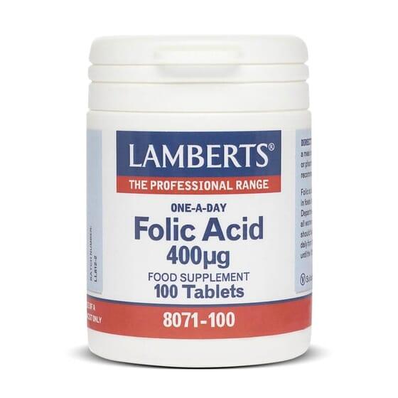 Ácido Fólico 400µg da Lamberts é importante especialmente antes e durante a gravidez.