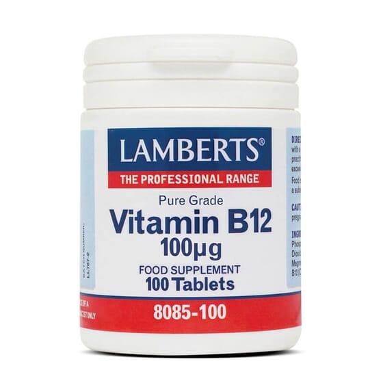 Vitamina B12 100µg de Lamberts es apta para vegetarianos.