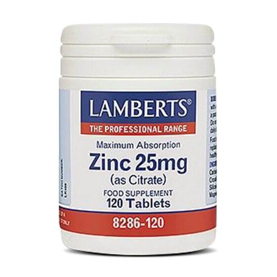 Zinc 25mg de Lamberts proporciona una alta concentración de zinc.