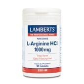 L-ARGININA HCL 1000mg - Lamberts - Aminoácido en forma libre