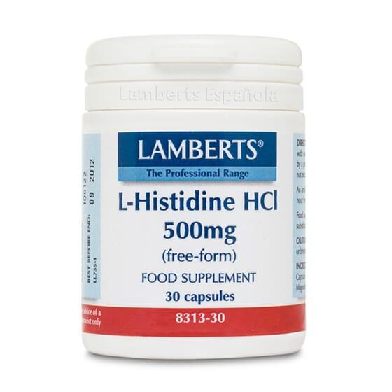 Favorece la reparación de los tejidos con L-Histidina HCl 500mg de Lamberts.