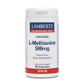 Cuida la salud de la piel y las uñas con L-Metionina 500mg de Lamberts.