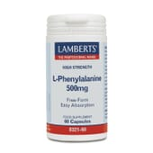 Favorece la sensación de bienestar con L-Fenilalanina 500mg de Lamberts.