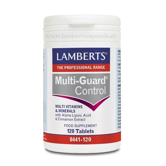 El multivitamínico y mineral MultiGuard Control de Lamberts regula la glucemia.
