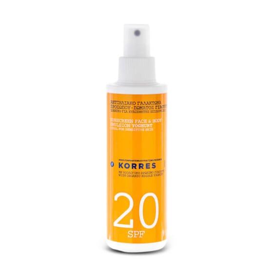 Protector Solar de Yogur para Rostro y Cuerpo SPF20 es fotoestable y no comedogénico.