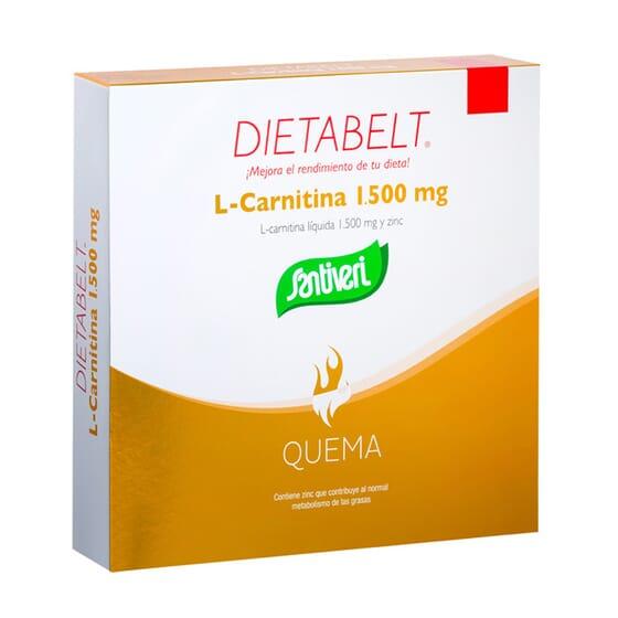 DIETABELT L-CARNITINE LIQUIDE ET ZINC 10 Fioles de 10 ml de Santiveri