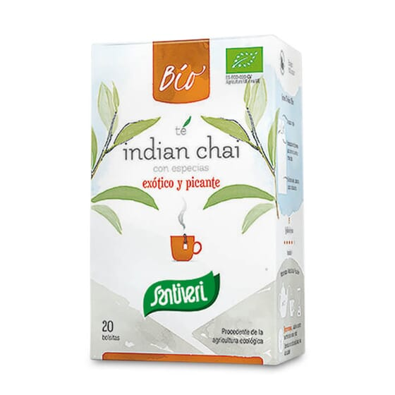 Infusion Thé Indien Chai Bio associe le thé noir aux épices de l'Inde.