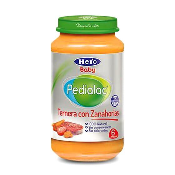 Potito de Ternera con Zanahorias es ideal para la cena o comida de tu bebé.