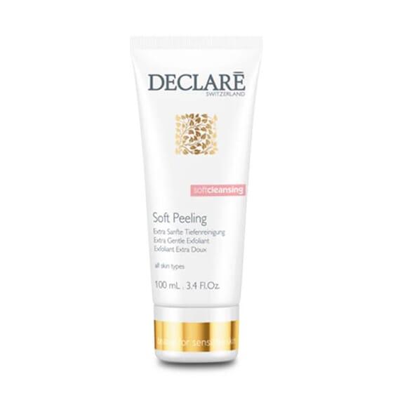 L'Exfoliant Doux élimine les cellules mortes de la peau.