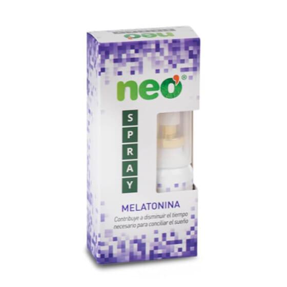 Neo Spray Melatonina contiene lavanda, melisa y melatonina.