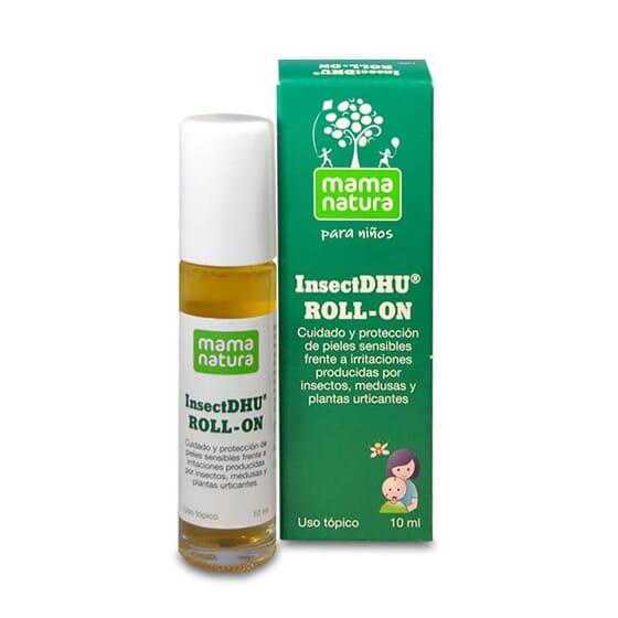 InsectDHU Roll-On acalma a pele das irritações produzidas pelos insetos.