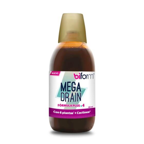 Mega Drain contient des extraits de plantes qui favorisent le drainage.