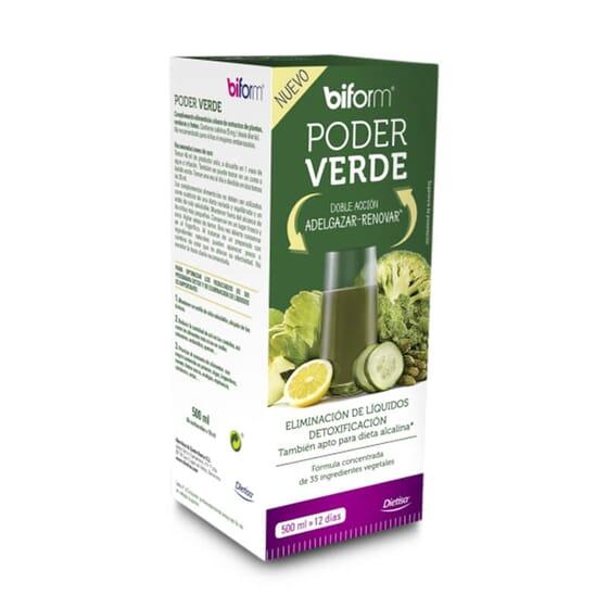 Poder Verde te proporciona doble acción: adelgazar y renovar.