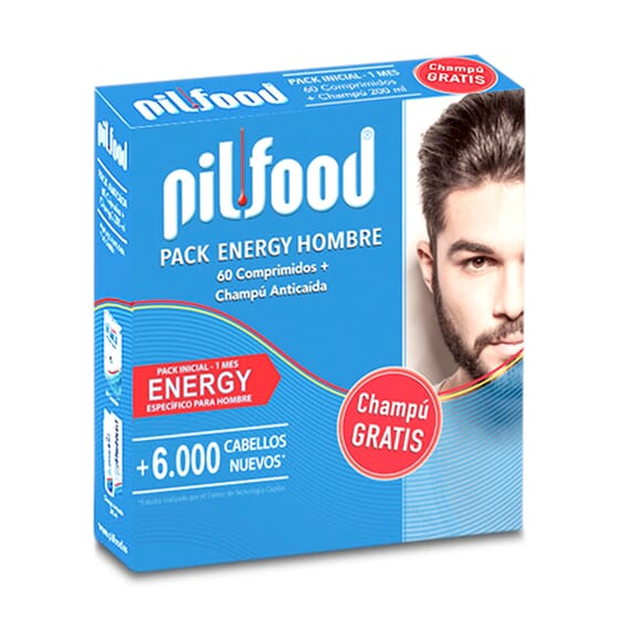 Pilfood Pack Energy Homme + Shampooing Gratuit - Anti-chute