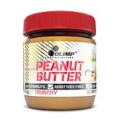 Le Beurre de Cacahuète Croquant d'Olimp est entièrement fabriqué avec des cacahuètes grillées.