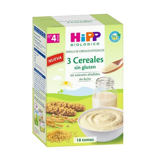 Papa 3 Cereais Sem Gluten Bio 400g da Hipp