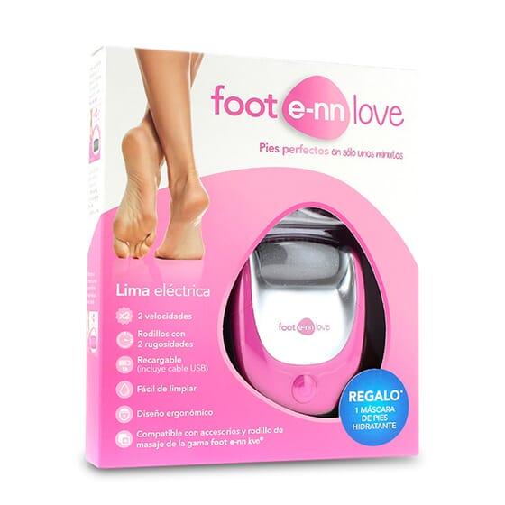 Foot E-nn Love Pack Lima é uma lima elétrica com 2 velocidades e rolos diferentes.