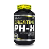La Creatina PH-X está formulada a base de creatina monohidrato tamponada.