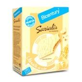Sarialis Barras de Cereais e Chocolate Branco da Bicentury é fonte de fibra.