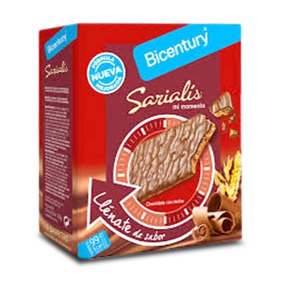 Sarialis Barres aux Céréales et Chocolat au Lait, idéales pour grignoter entre les repas.