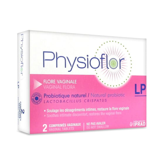 PHYSIOFLOR PROBIOTIQUE VAGINAL LP 2 comprimés vaginaux