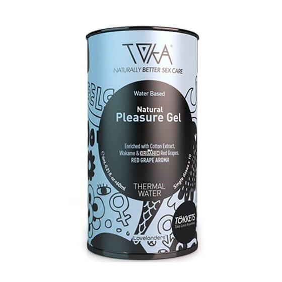 Le Gel Lubrifiant Pleasure Toka à base d'eau favorise la lubrification naturelle.