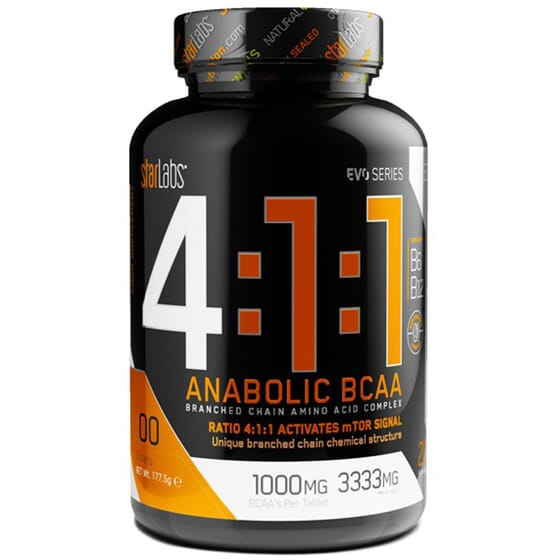 4:1:1 ANABOLIC BCAA 200 Tabs de Starlabs Nutrition