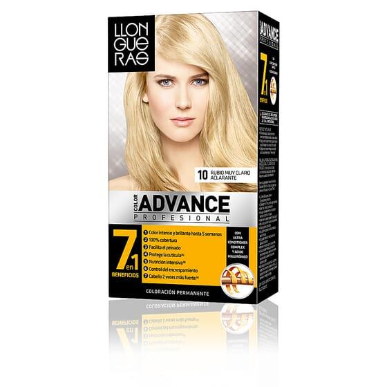 Color Advance Hair Colour #10-Loiro Muito Claro Aclarante da Llongueras