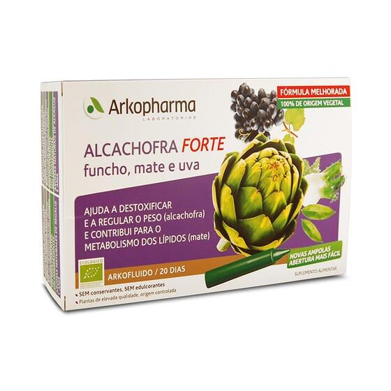 ARKOFLUIDE ARTICHAUT FORTE FENOUIL, MATE ET RAISIN 20 ampoules de 15 ml de Arkopharma
