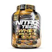 Nitro Tech Whey Isolate Gold - Muscletech - ¡Con extra de péptidos!