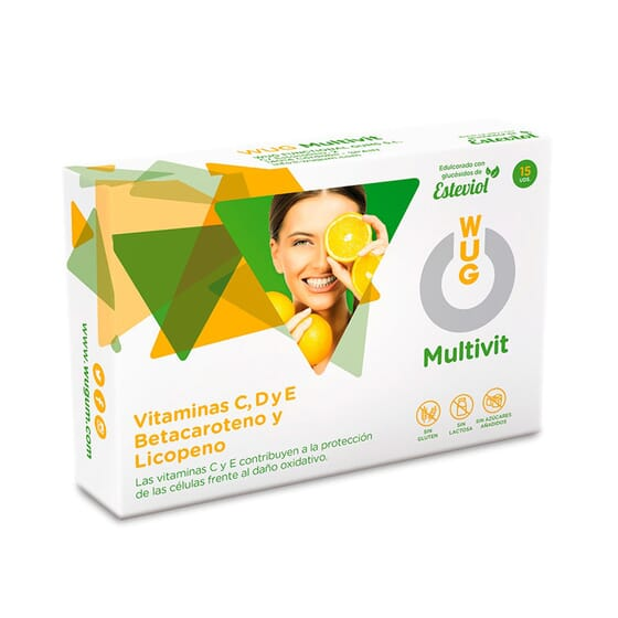 WUG MULTIVIT CHEWING-GUM AUX VITAMINES 15 Chewing-gums de Wugum