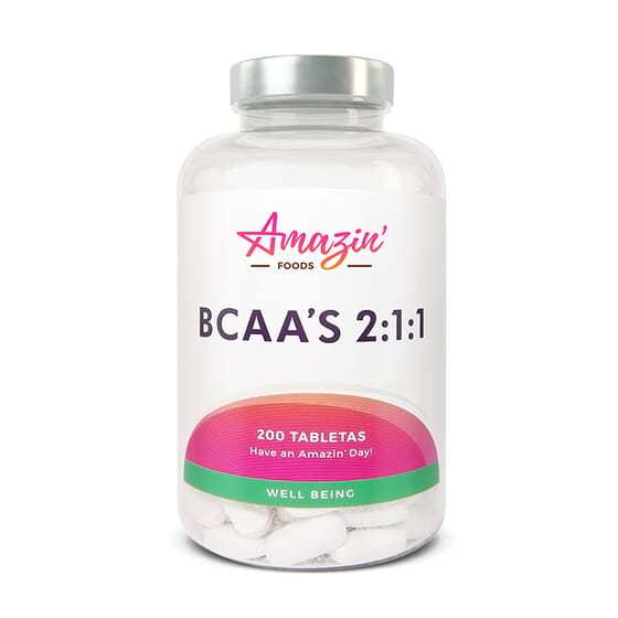 BCAA 2:1:1 200 Comprimés de Amazin' Foods