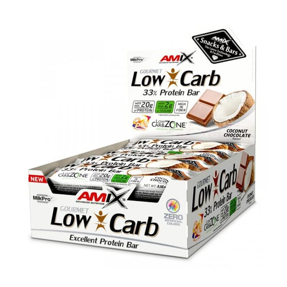 Gourmet Low Carb 33 % Protein Bar 15 x 60 g - Amix