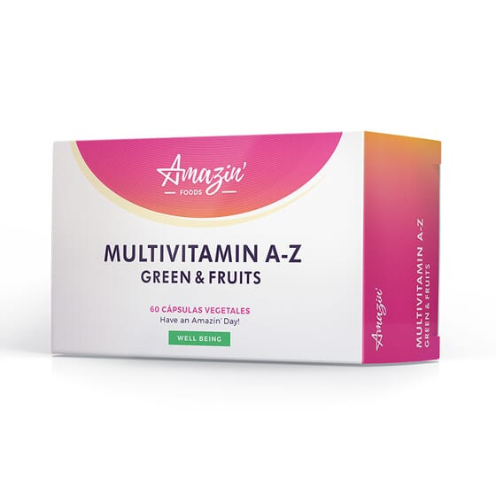 MULTIVITAMIN A-Z GREEN AND FRUITS 60 VCaps de Amazin' Foods